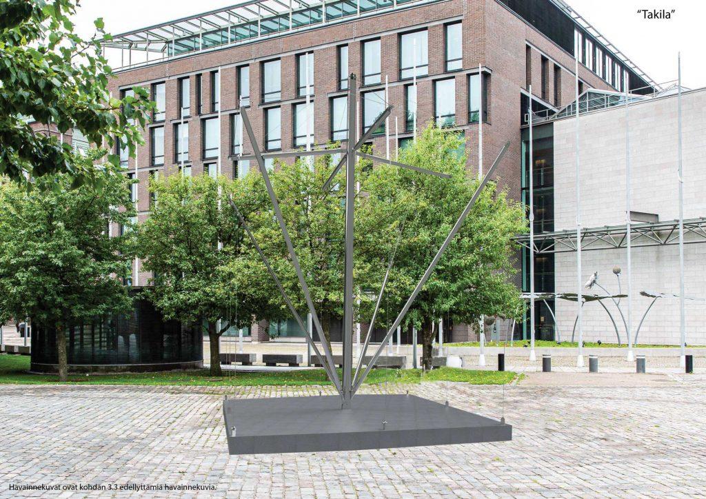 Minnesmärket är placerat vid den nuvarande fontänbassängen, eftersom fontänen endast kan användas under delar av året och det därmed är motiverat att avlägsna det.