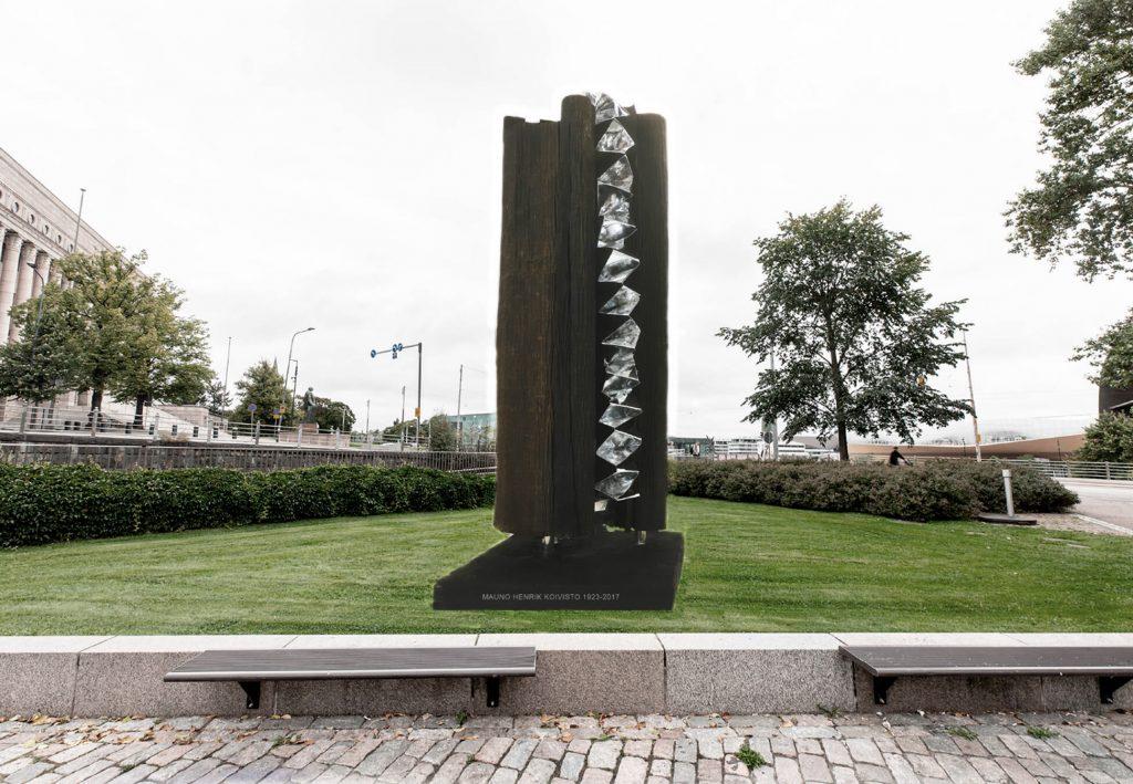 Minnesmärkets struktur och materialval har symboliska värden. Avsikten är att lyfta fram Mauno Koivistos tid som president, men också illustrera Koivisto som person och hans inställning till livet.