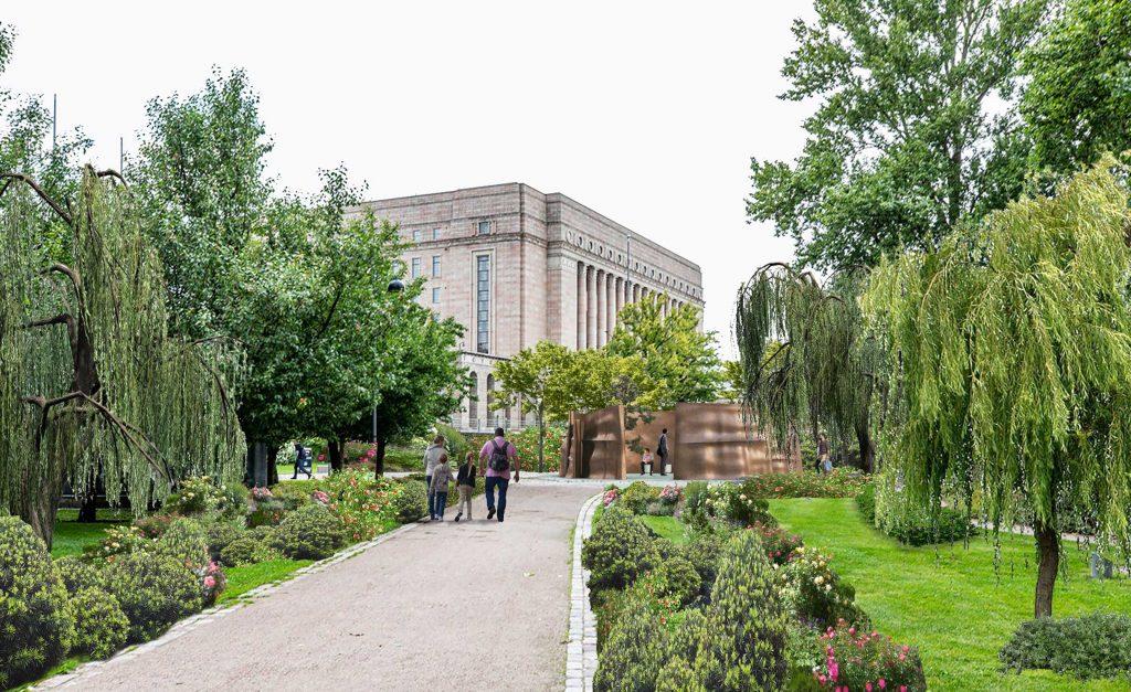 Kolmeen veistoselementeistä on sisäpuolella kaiverrettu presidentti Koiviston ajatuksia ja mietelauseita.