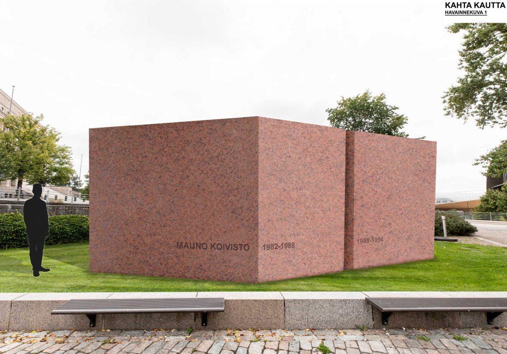 De två stenpålarna i verket illustrerar president Koivistos två mandatperioder 1982–1988 och 1988–1994. Stenarna är stabila konstruktioner, delar av en större helhet, ett kontinuum.