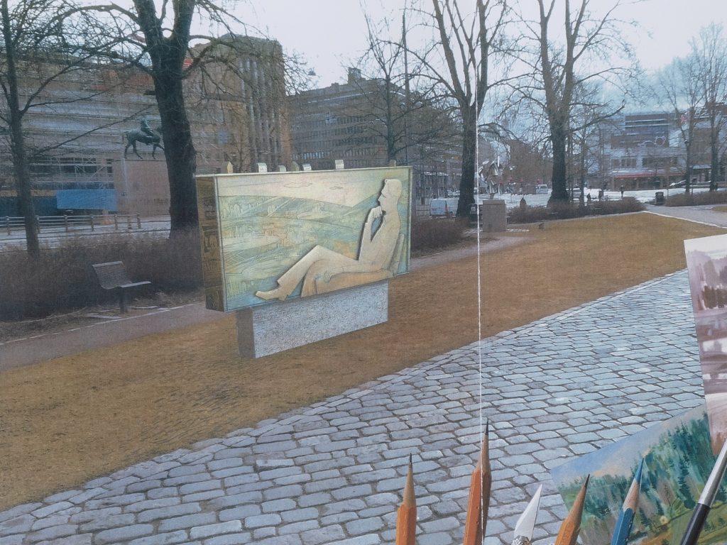 Muistomerkki on tyyliltään kuin tavallisia ihmisiä kuvaavat patsaat Suomessa. Se ei pyri olemaan kaikkien yläpuolella.